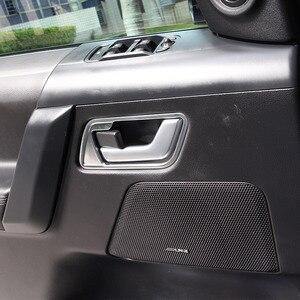 Image 5 - Für Land Rover Range Rover Sport L320 2005 2008 ABS Chrom/Schwarz Auto Innen Innen Tür Griff Rahmen aufkleber Auto Zubehör