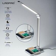 LED Schreibtisch Lampe 72 lampe 3 Farbe Hand Sweep Drahtlose Lade für telefon 360 Grad Rotation Touch Auge schützen mit timer Tisch lampe