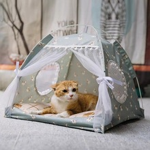 Bed Houses Pet-Kennel-Products Cats-Tent Dog-Basket Foldable Home-Cushion Kitten Princess