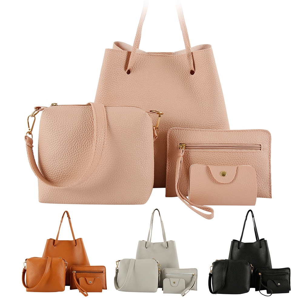 4pcs Woman Bag Set Fashion Female Purse And Handbag Four-Piece Shoulder Bag Tote Messenger Purse Bag Drop Shipping