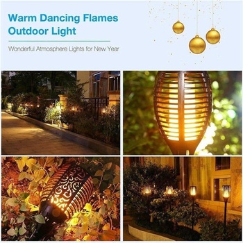 LED Solar Flame Light Lamp Flickering Waterproof Garden Decoration Landscape Lawn Lamp Path Lighting Torch Outdoor Spotlight 3