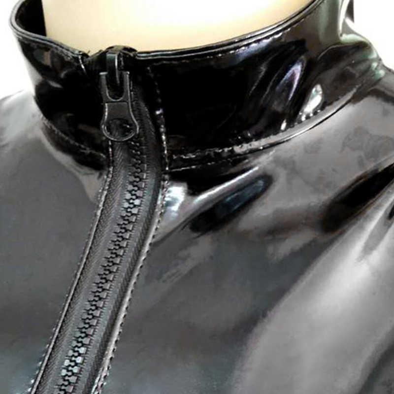 Las mujeres traje de Damas traje cremallera negro de tamaño Regular Clubwear Sexy siameses atractiva de moda
