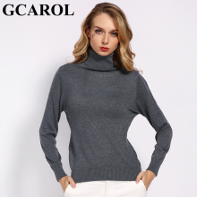 GCAROL, новинка, Осень-зима, 30% шерсть, водолазка, свитер, мягкая ручка, теплый женский джемпер, OL, вязаный пуловер, S-3XL