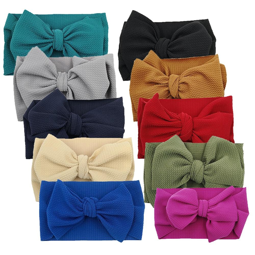 10PCS Bebê Menina Headbands Largas Faixas de