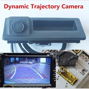 Image 1 - RGB מבט אחורי היפוך מצלמה עבור פולקסווגן Jetta MK5 MK6 Tiguan פאסאט B7 RNS510 RNS315 דינמי מסלול תא מטען ידית RVC מצלמה