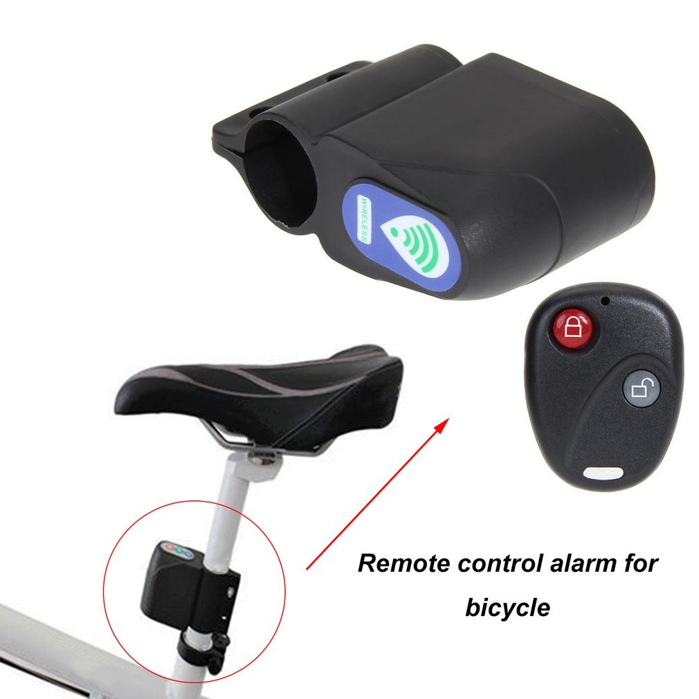 Bicycle Lock Anti-theft Remote Control Mountain Road Bike Excellent Cycling Security Lock Vibration Alarm Bicycle Accessories