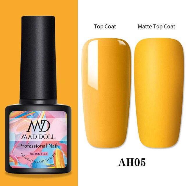 1 Bottle 8ml MAD DOLL Spring Series Gel Polish Color Nail Gel Soak Off LED UV Gel Varnish Nail Art DIY Nail Art Design 1