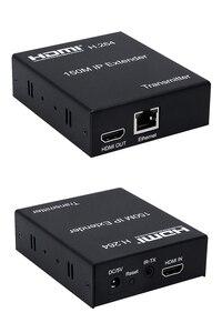 Image 3 - 150M HDMI IP Extender באמצעות RJ45 Ethernet רשת Cat6 חתול 6 6a כבל הארכת תמיכה 1 TX 50 RX משדר מקלט IR UTP/STP