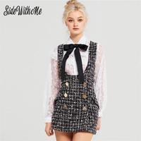 2019 Women Plaid Tank Mini Dress Spring Summer A Line Sleeveless Elegant Ladies Cotton Casual Slim Above Knee Dresses Vestidos