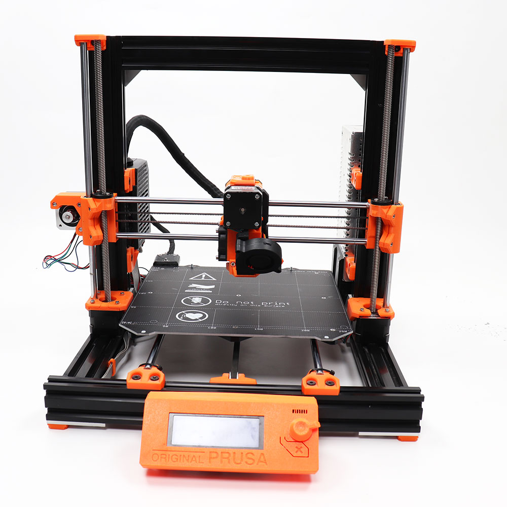 Kit completo de impresora 3d de oso Prusa i3 MK3S clonado que incluye extrusión multicolor anodizado después del corte einsty rambas board PETG partes