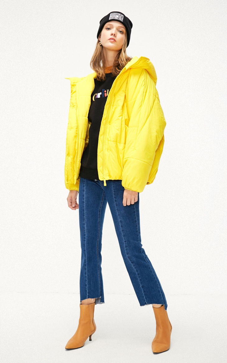 ONLY Letter Embroidery Light Short Hooded Bread Cotton Padded Coat Jacket| 119122502 15