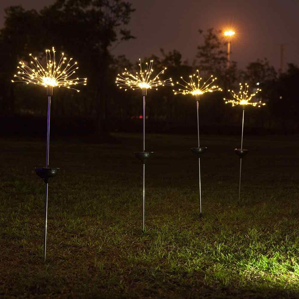1PC Led ソーラー花火形状芝生ライト 8 屋外照明モードガーデンデコレーションライトフロアライト