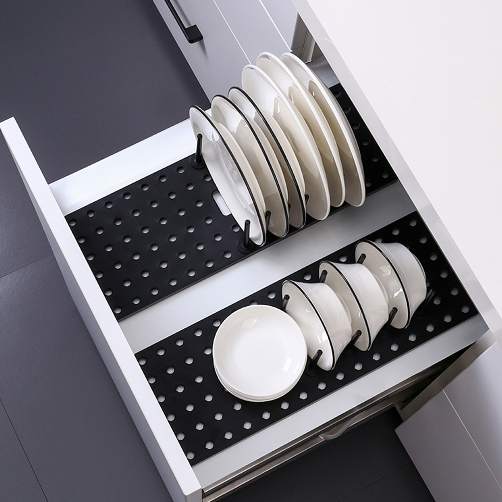 Kitchen Shelf Organizer Telescopic Dish Plate Drying Rack Bowl Pot Lid Storage Holder Adjustable Kitchen Dish Drying Rack 1