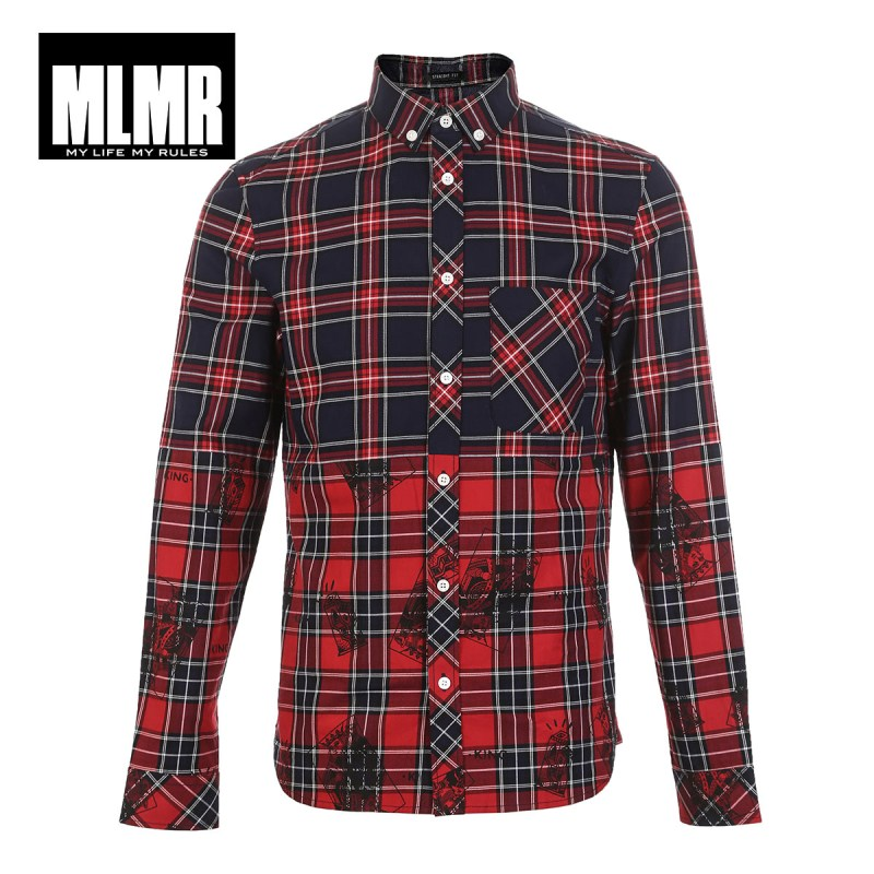 Image 5 - JackJones 100% Cotton Printed Red Shirt 218305570-in Casual Shirts from Men's Clothing