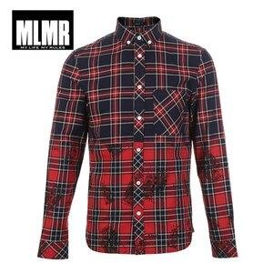 Image 5 - JackJones 100% Cotton Printed Red Shirt 218305570