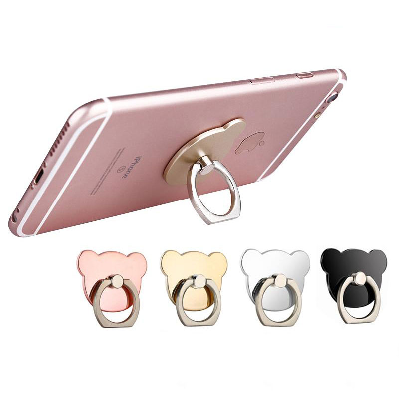 Finger Ring Mobile Phone Smartphone Stand Holder cell Smart Round Phone Ring Transparent Cat holder Heart
