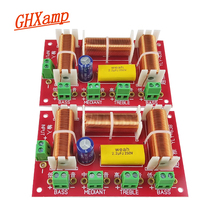 Divisor de frecuencia de 3 vías, 200W, dos graves, agudos, Midrange, altavoz de Woofer Dual, Audio cruzado, 4 8Ohm, 1 par