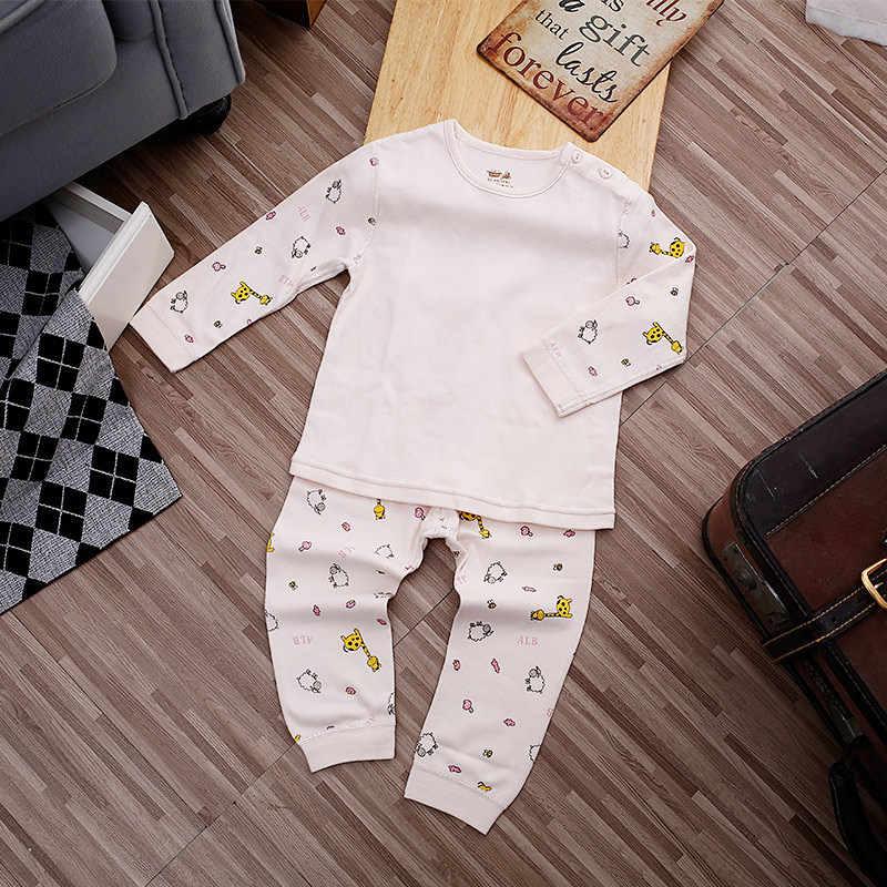 Do lu than 1-4 años de edad ropa de bebé niños Otoño e Invierno deshuesado cuerpo abrazar conjunto de ropa interior de algodón puro