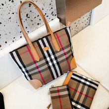 2019 New Vintage big bags female brief handbag large capacity plaid canvas bag fashion trend of the color block shoulder bag free shipping new arrival large capacity vintage the trend of trolley luggage waterproof bag travel bag plaid pu boarding bags