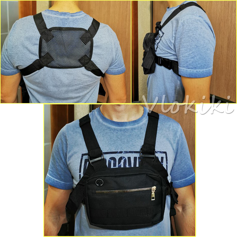 H06bdf53f72894f9a8295c9aed43d25486 - Small Chest Rig Men Bag Trendy Tactical Outdoor Streetwear Strap Vest Chest Bags For Women External Hook Sport Chest Pocke G176