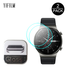 2PCS 2.5D Tempered Glass Screen Protector For Huawei Watch GT 2 GT2 Pro Smartwatch Screen Protective Film Anti-Scratch glass