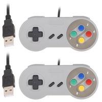 2pcs USB Game pad Controller Famicom classico per Super Nintendo SNES PC MAC PSP sistemi operativi giochi accessori per telefoni