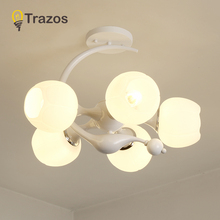 LED Ceiling Light Modern Panel Lamp Lighting Fixture Living Room Bedroom Kitchen Surface Mount Flush Glass lampshade