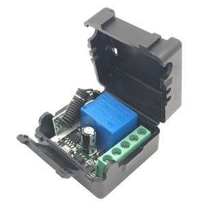 Image 4 - 433mhz universal sem fio de controle remoto para portão garagem dc 12v 1ch relé módulo receptor 4 botão controle remoto rf interruptor