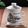 Китайская керамическая чайная чашка с ситечком чайный набор Улун чай Пуэр чайная чашка для путешествий чайная чашка офисный бытовой чайный...