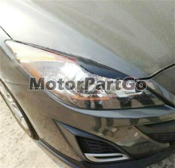 Real Crabon Fiber Head light Eyelid Eyebrow Cover Trim 1pair for Mazda 3  2010-2013  T191 1