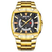 ผู้ชาย BENYAR ธุรกิจนาฬิกาสแตนเลสสตีลผู้ชายนาฬิกาควอตซ์กีฬาแฟชั่นยี่ห้อกันน้ำนาฬิกาข้อมือ
