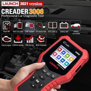 Image 2 - LAUNCH Creader CR3008 Auto OBD2 EOBD code reader scanner CR 3008 for Engine Multi language PK KW850 diagnostic tool