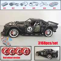 2019 nuevo 1965 Ford Mustang Hoonicorn Racing Car fit Technic MOC-22970 FIT 20102 bloques de construcción bloques chico regalo