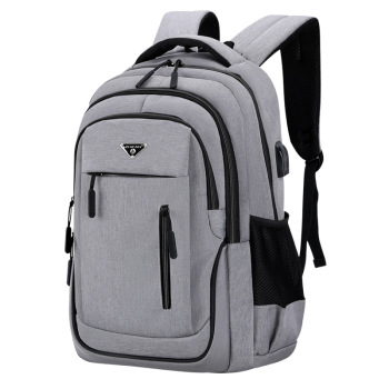 Big Capacity Men Backpack Laptop 15.6 Oxford Gray  1