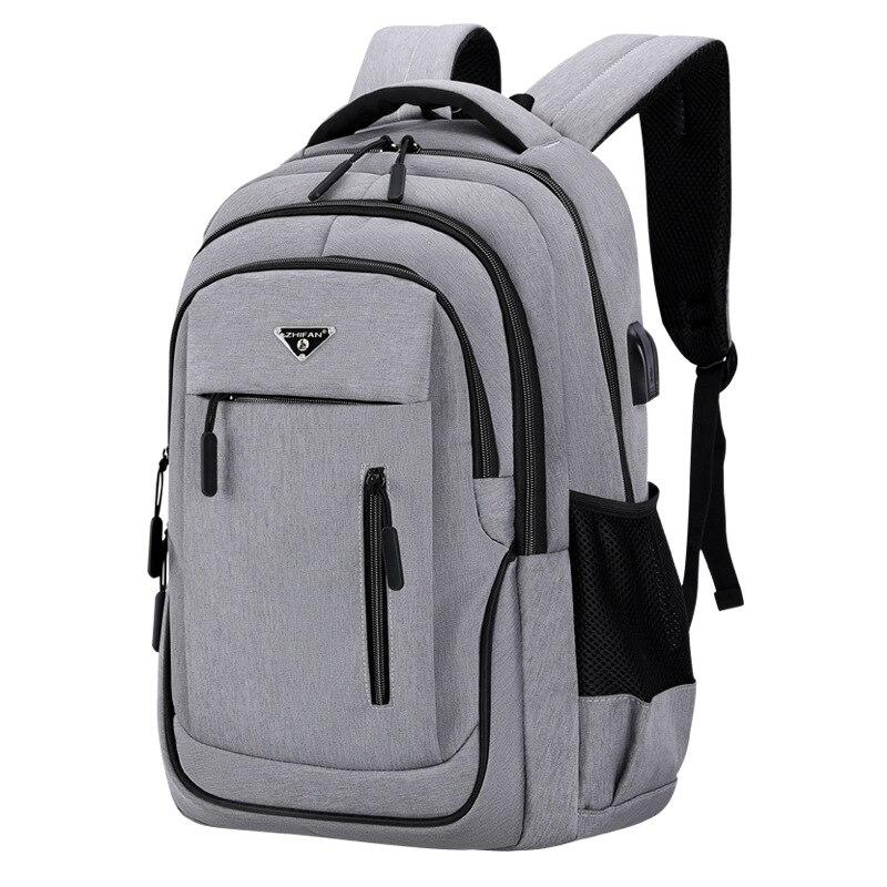 Рюкзак мужской, вместительный, для ноутбука 15,6 дюйма, серый, Оксфорд|Рюкзаки| | АлиЭкспресс