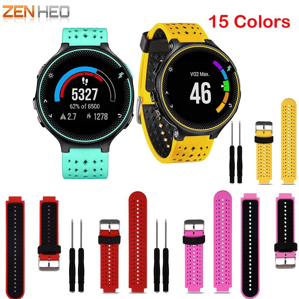 Replacement Silicone Watch Wrist Band Strap For Garmin Forerunner 235 630 230 735XT Watch Wristbands Bracelet Smart Accessories