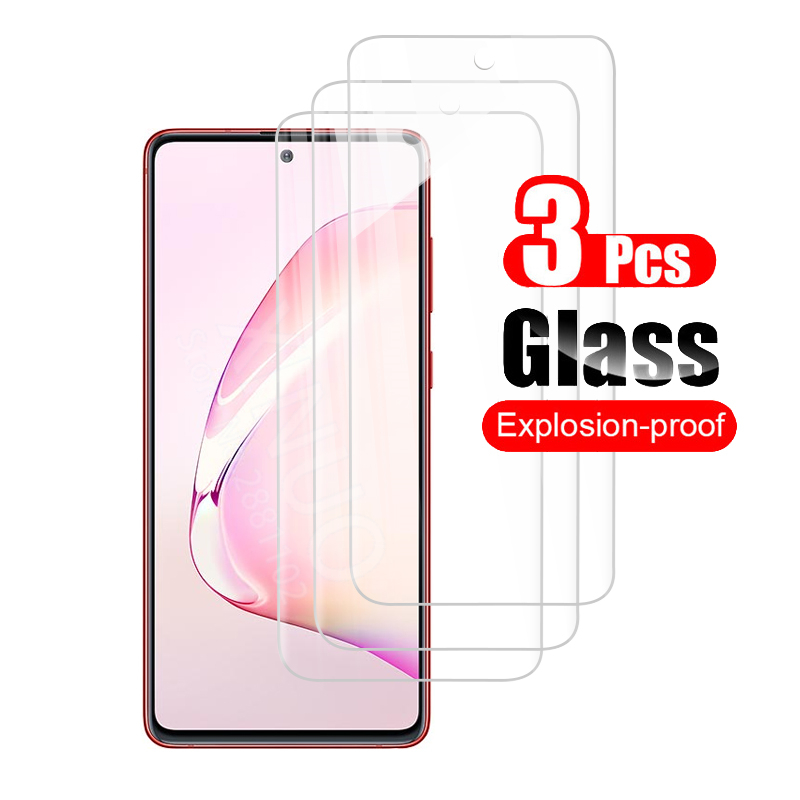 <font><b>3</b></font> PCS screen protector for <font><b>Samsung</b></font> Galaxy Note 10 Lite Tempered <font><b>glass</b></font> for <font><b>Samsung</b></font> Note10 Lit light Not 10 Lite protector film image