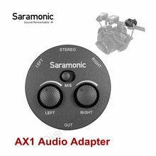 Saramonic AX1 Audio Adapter Mono Stereo 2 Channel Microphone Audio Mixer for DSLR Mirrorless Video Cameras Smartphone Laptop