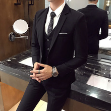 Men's Three Piece Suit Korean Business Slim And Handsome Sets