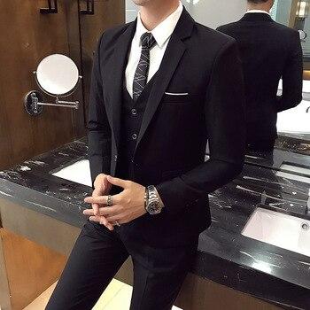 Men's Three Piece Suit Korean Business Slim And Handsome Sets