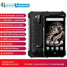 """Ulefone zırh X5 IP68 su geçirmez küresel sürüm Android 9.0 5.5 """"HD + Octa çekirdek RAM 3GB ROM 32GB NFC yüz kimlik çift SIM akıllı telefon"""