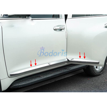For Toyota Land Cruiser Prado FJ150 2010-2018 Chrome Body Side Moulding Cover Garnish Trim Kit Styling Prado Accessories