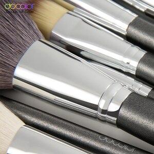 Image 4 - Set di pennelli per trucco Docolor professionale con fondotinta per capelli in polvere naturale ombretto pennello per trucco fard 10 pezzi 29 pezzi