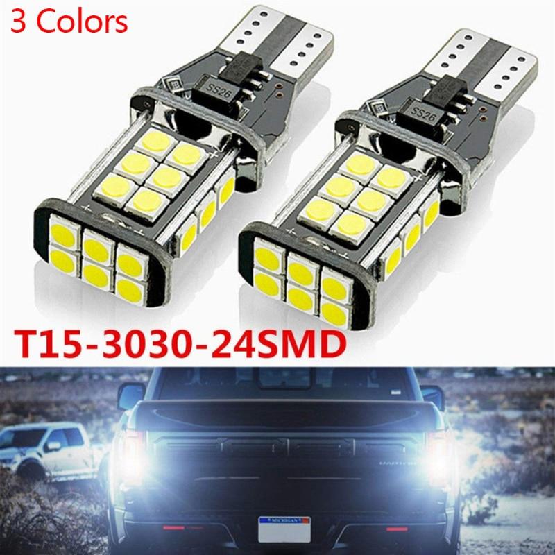 Комплект из 2 предметов, новинка, T15 W16W WY16W супер яркий светодиодный автомобиля задние светодиодные лампы стоп сигнала сигнал поворота задне...
