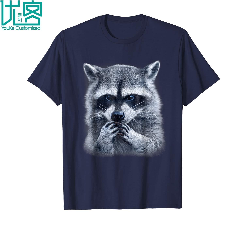 Raccoon T Shirt Animal Shirt 3d Style Print 2019 Summer Men's Short Sleeve T-Shirt