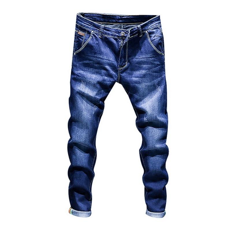 NIBESSER, Стрейчевые джинсовые штаны, однотонные, зауженные джинсы, Мужские повседневные байкерские мужские джинсы деним, уличные, в стиле хип-х...