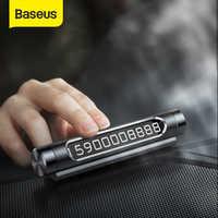 Numero di Targa Del Telefono Baseus Auto di Parcheggio Temporaneo Luminoso Auto Adesivi Stile Del Cassetto Auto-Styling Interruttore A Bilanciere