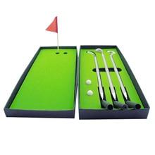 цена на Golf Pen Set Mini Desktop Golf Ball Pen Gift Set with Flag Ballpoint Pens 2 Balls  OUJ99