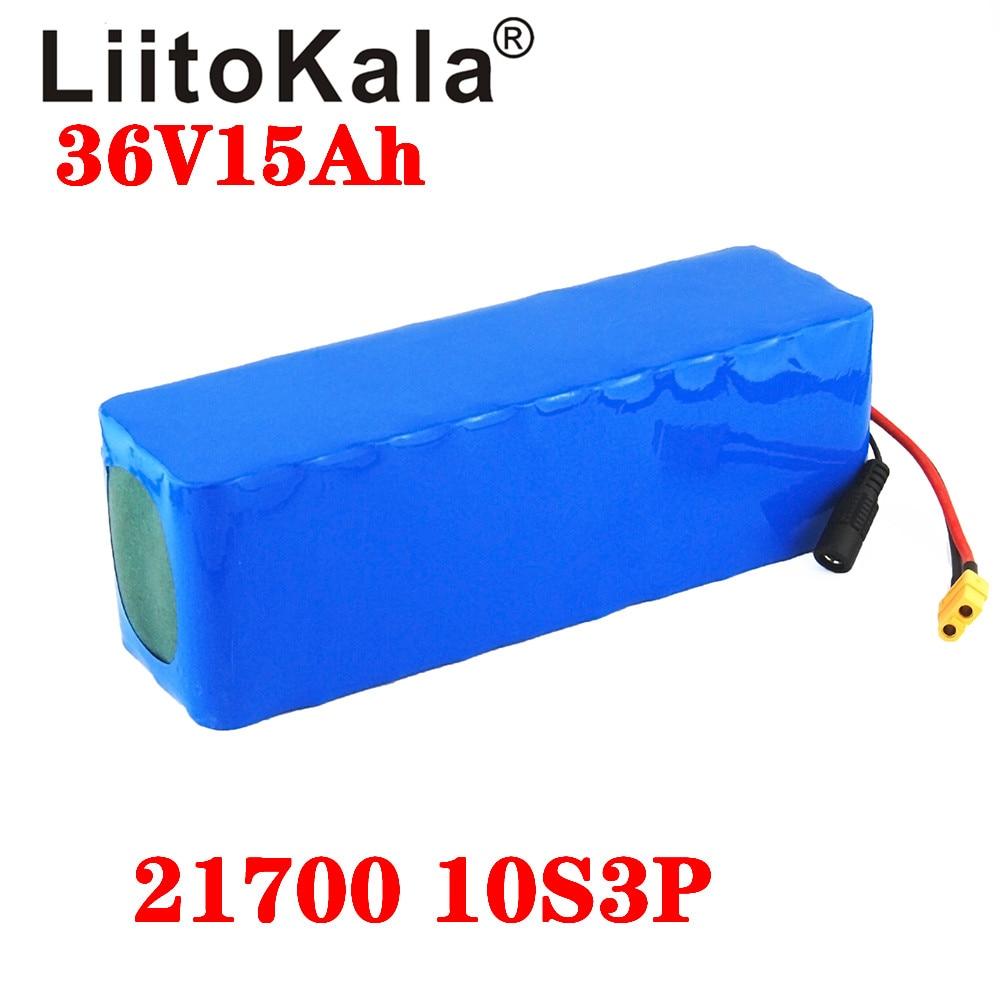 LiitoKala 36V 15Ah 12Ah 10Ah 8Ah Battery 21700 5000mah Battery Pack 500W High Power Battery 42V Ebike Electric Bicycle BMS XT60