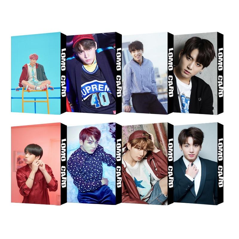30pcs/set KPOP Bangtan Boys Photocard Single JUNGKOOK Album Photo Card LOVE YOURSELF High Quality HD Bangtan Boys Kpop Photocard